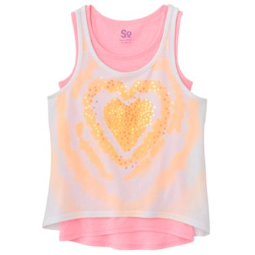 SO Heart Hi-Low Tank Set - Girls 7-16