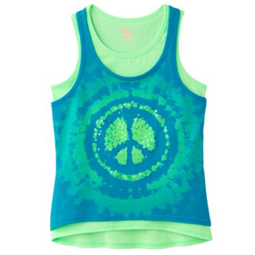 SO Peace Hi-Low Tank Set - Girls Plus