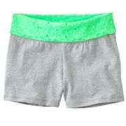 SO Floral Lace Fold-Over Yoga Shorts - Girls Plus
