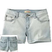 Mudd Bleached Striped Denim Shorts - Girls Plus