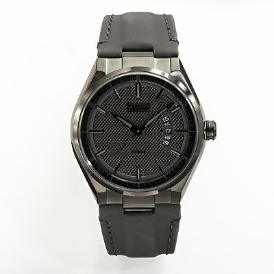Drive from Citizen Eco-Drive Stainless Steel Black Ion Leather Watch - AW1135-19E - Men