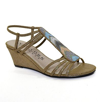 New York Transit Freshest Image T-Strap Wedge Sandals - Women