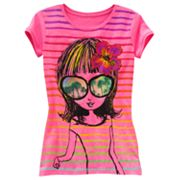 SO Tropical Girl Striped Tee - Girls 7-16