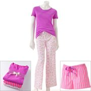 SONOMA life + style 3-pc. Printed Knit and Poplin Pajama Gift Set