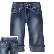 Angels Embellished Cuffed Denim Capris - Girls 7-16