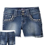 Angels Rhinestud Denim Shorts - Girls 7-16