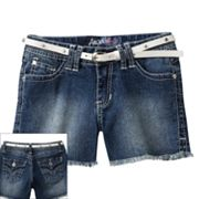 Angels Belted Denim Shorts - Girls 7-16