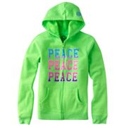 SO Peace Neon Fleece Hoodie - Girls 7-16