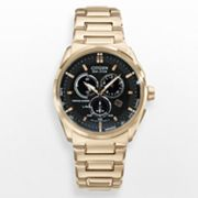Citizen Eco-Drive Rose Gold Tone Stainless Steel Perpetual Calendar Chronograph Watch - BL5483-55E - Men