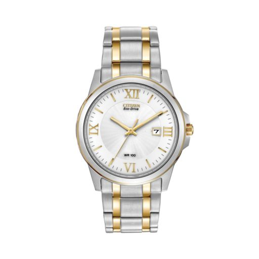 Citizen Eco-Drive Men's Two Tone Stainless Steel Watch - BM7264-51A