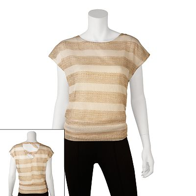 IZ Byer California Striped Tie Back Top - Juniors