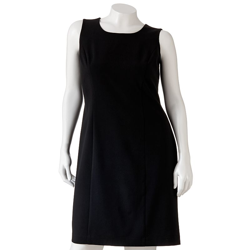 Sag Harbor Solid Sheath Dress - Women's Plus