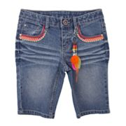 IZ Amy Byer Denim Bermuda Shorts - Girls 7-16