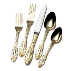 Wallace Duchess 65 pc Gold-Plated Flatware Set