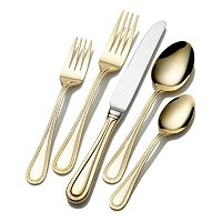 Wallace Continental Bead 65 pc Gold-Plated Flatware Set