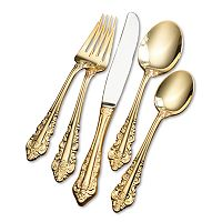 Wallace Antique Baroque 80 pc Gold-Plated Flatware Set