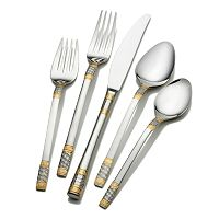 Wallace Corsica 65-pc. Gold-Plated Flatware Set