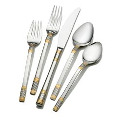 Wallace Corsica 65 pc Gold-Plated Flatware Set