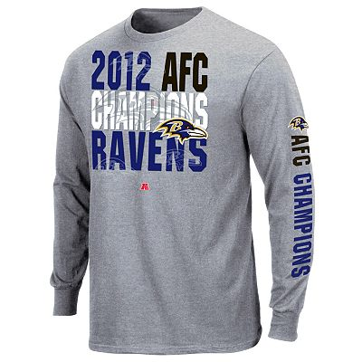 Baltimore Ravens Advancing 2012 AFC Conference Champions Long-Sleeve Tee - Men