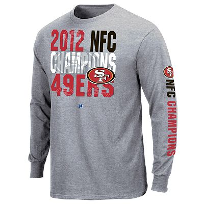 San Francisco 49ers Advancing 2012 NFC Champions Long-Sleeve Tee - Men