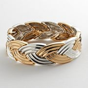 Napier Two Tone Braided Stretch Bracelet