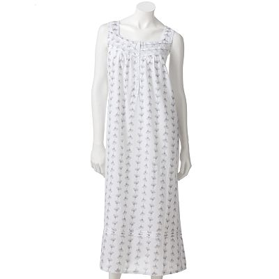 Croft and Barrow Floral Pintuck Henley Nightgown