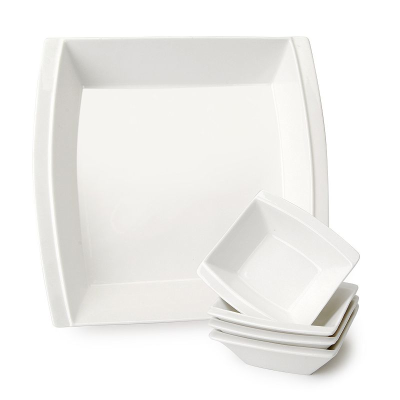 Carmona New York 5-pc. Square Salad Bowl Set