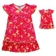 Dollie and Me Dragonfly Nightgown Set - Girls 4-10