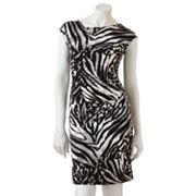 Apt. 9 Animal Ruched Sheath Dress - Petite