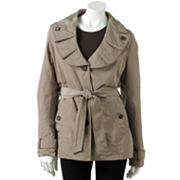 Weathercast Pleated Trench Coat