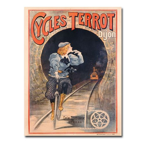 """Cycles Terrot, 1900"" 24"" x 32"" Canvas Art"