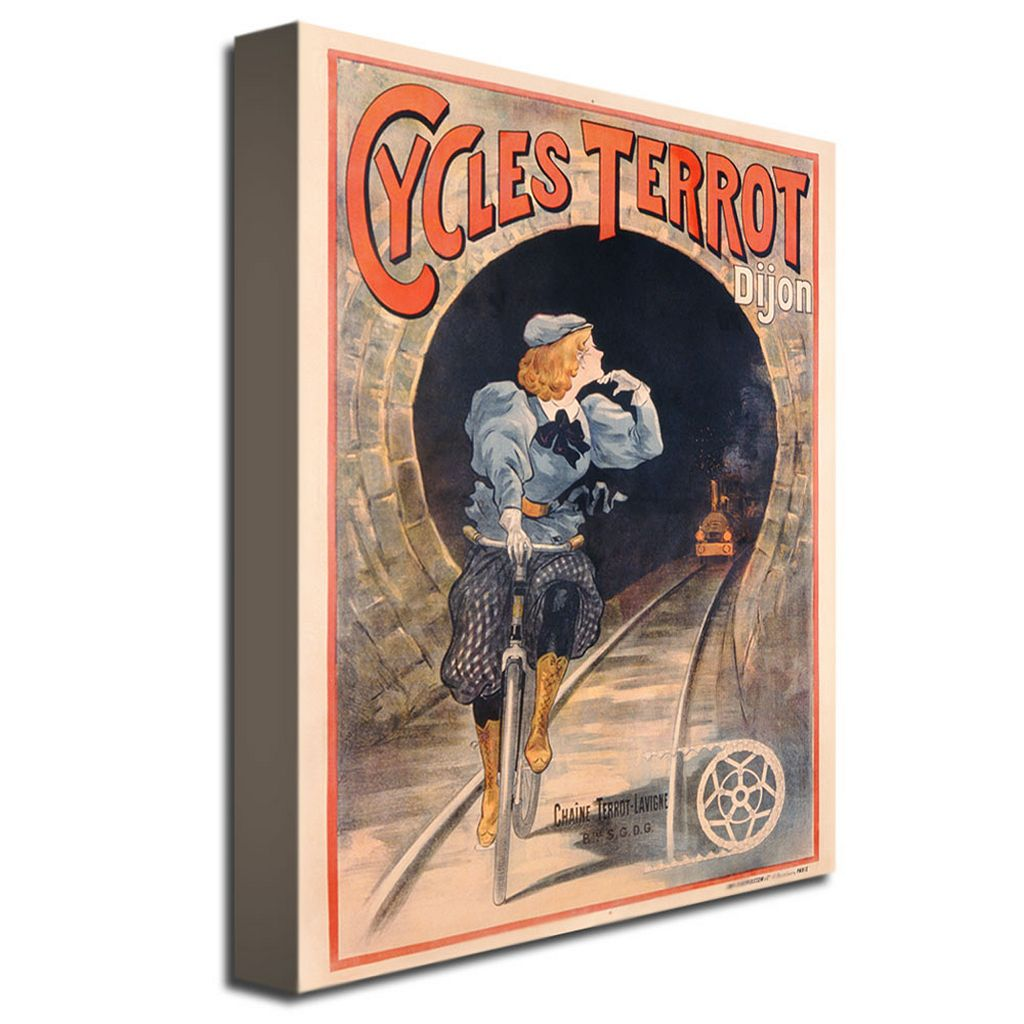 Cycles Terrot, 1900 35'' x 47'' Canvas Art