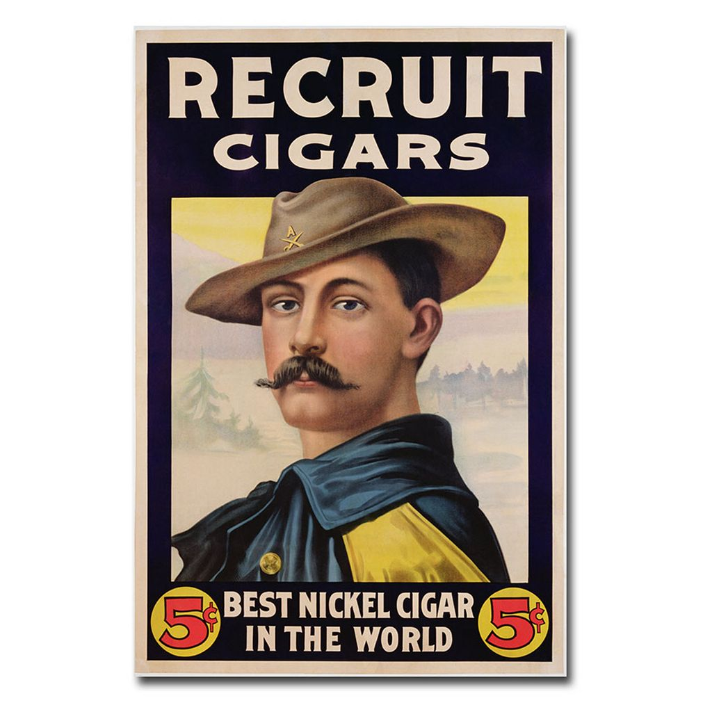 ''Recruit Cigars, 1899'' 16'' x 24'' Canvas Art