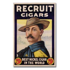''Recruit Cigars, 1899'' 16'' x 24'' Canvas Art