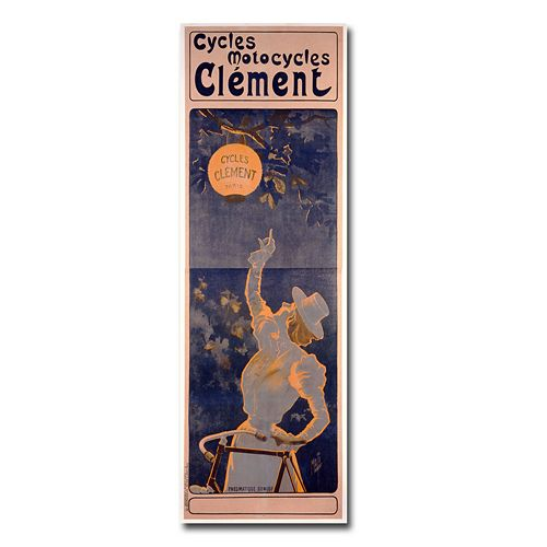 ''Cycles Clement, 1895'' 12'' x 32'' Canvas Art by Ferdinand Misiti