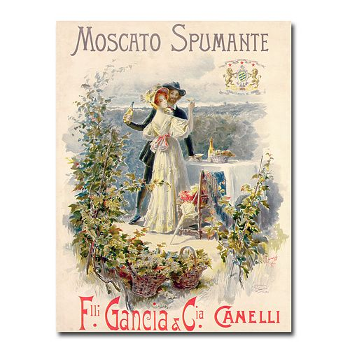 """Moscato Spumante"" 18"" x 24"" Canvas Art by Cesare Saccaggi"