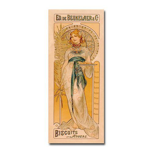 """""""Ed. de Beukelaer co Biscuits anvers, 1899"""" 12"""" x 32"""" Canvas Art"""