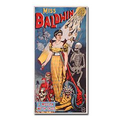 ''Miss Baldwin, A Modern Witch of Endor, 1888'' 12'' x 24'' Canvas Art