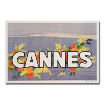 ''Cannes, 1930s'' 30'' x 47'' Canvas Art by Georges Goursat