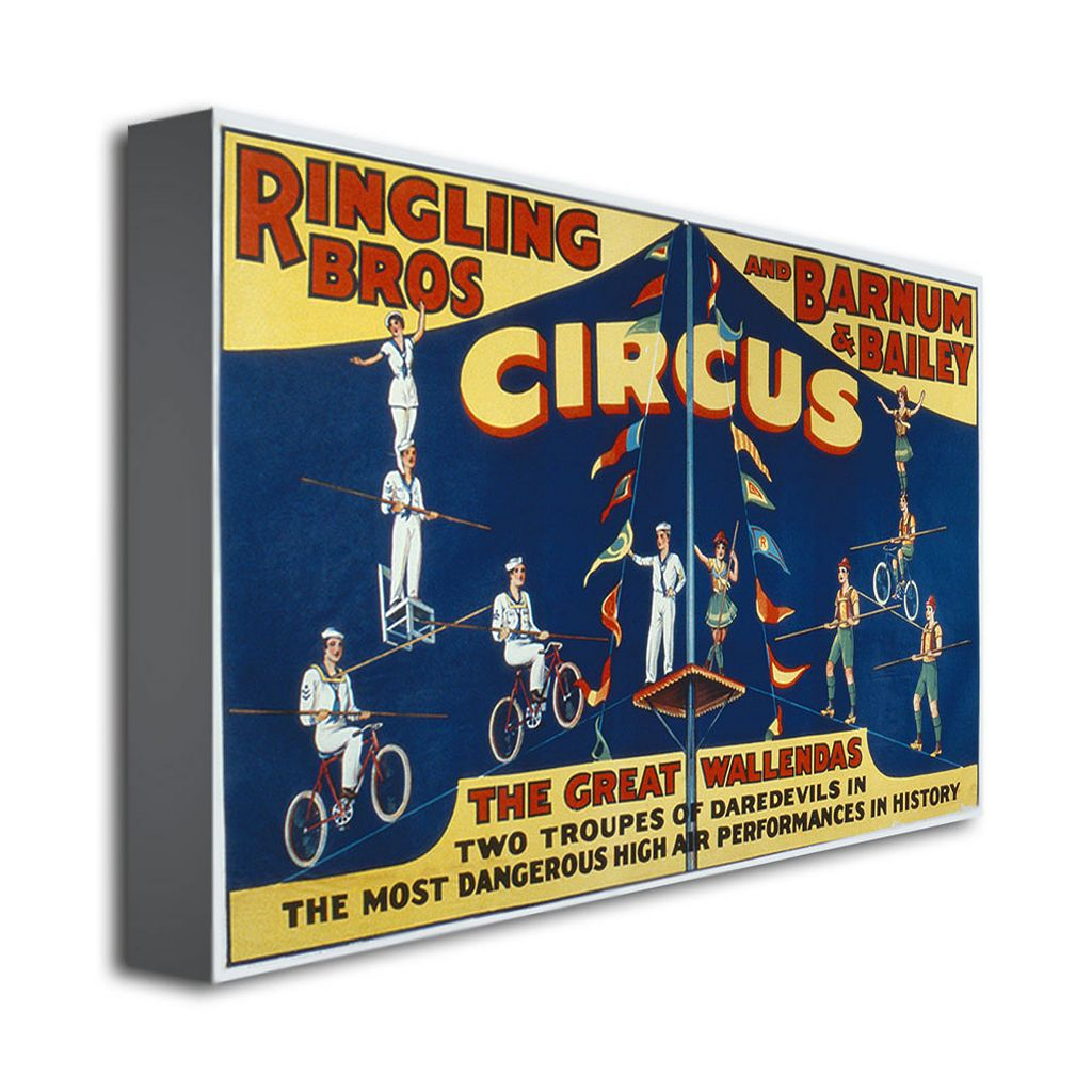 Ringling Brothers and Barnam and Bailey Circus 22'' x 32'' Canvas Art