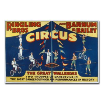 Ringling Brothers and Barnam and Bailey Circus 30'' x 47'' Canvas Art