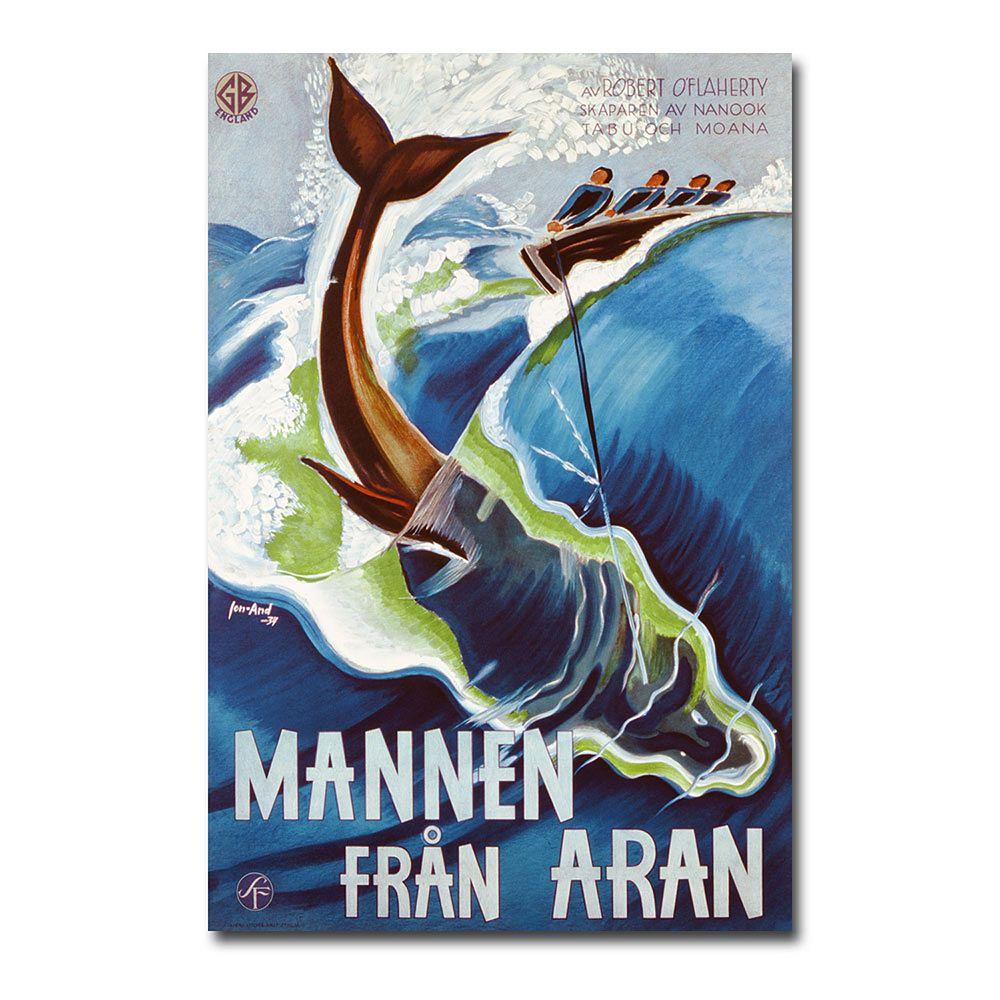 """Mannen Fran Aran, 1937"" 30"" x 47"" Canvas Art by John Jon-And"