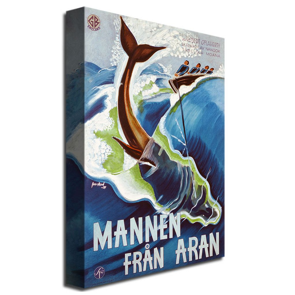 Mannen Fran Aran, 1937 30'' x 47'' Canvas Art by John Jon-And