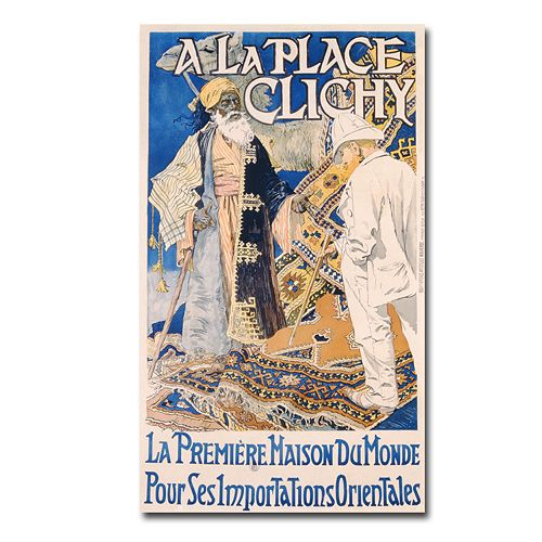 """A La Place Clichy, 1890"" 18"" x 32"" Canvas Art by Eugene Grasset"