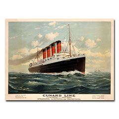'Cunard Line, 1908' 35' x 47' Canvas Art by Fred Pansing