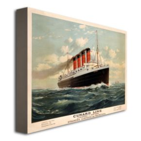 Cunard Line, 1908 35'' x 47'' Canvas Art by Fred Pansing