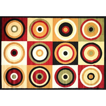 Infinity Home Dulcet Commerce Rings Rug - 2'7'' x 3'11''