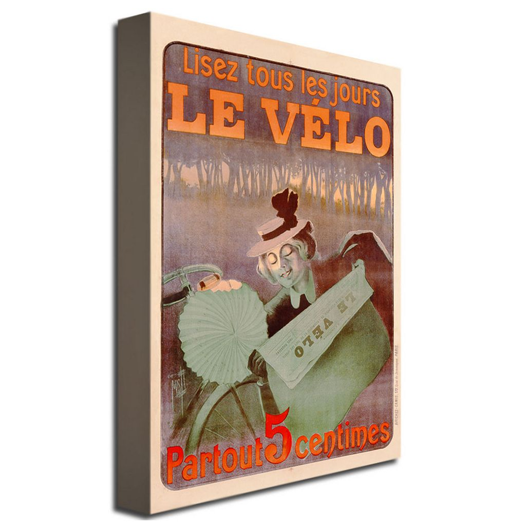 Le Velo, 1899 30'' x 47'' Canvas Art by Ferdinand Misti-Mifliez