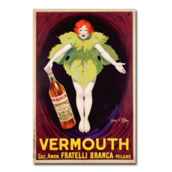 Fratelli Branca Vermouth, 1922 16'' x 24'' Canvas Art by Jean d'Ylen