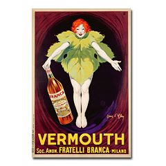 'Fratelli Branca Vermouth, 1922' 30' x 47' Canvas Art by Jean d'Ylen